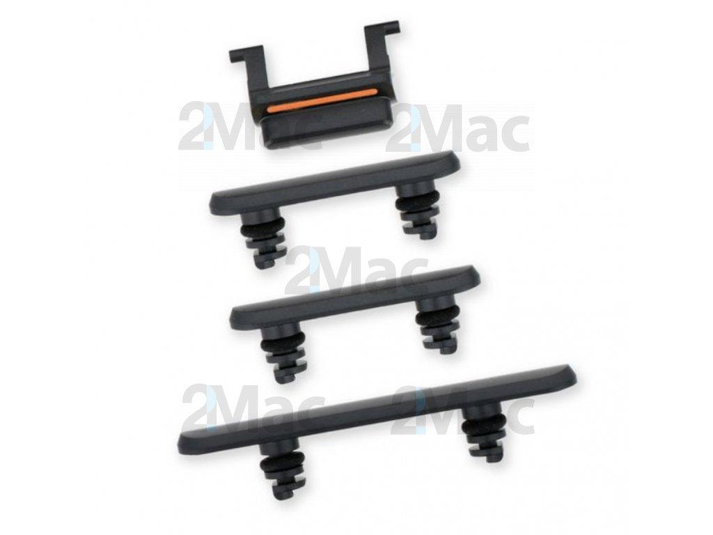 Boční kovová tlačítka pro Apple iPhone 11 - Black