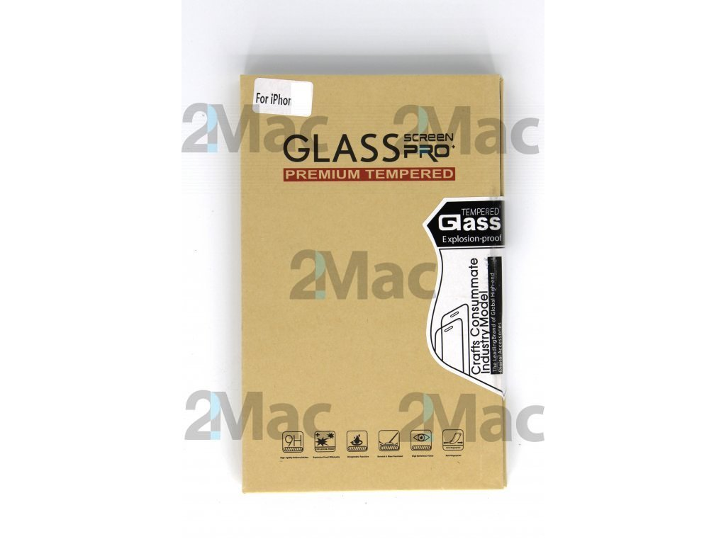 Ochranné tvrzené sklo pro Apple iPhone 8 5D - Černá