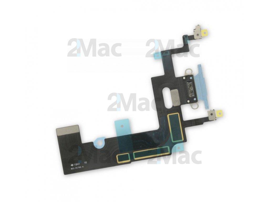 Napájecí datový konektor pro Apple iPhone XR - Modrý