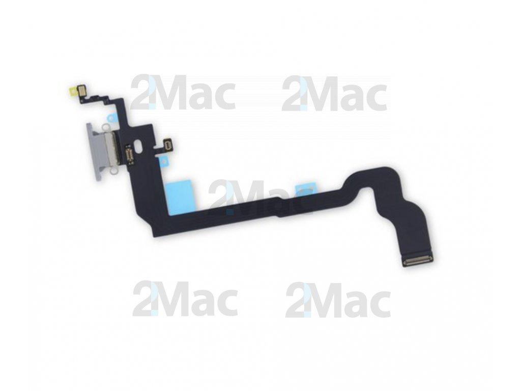 Napájecí datový konektor pro Apple iPhone X Gray