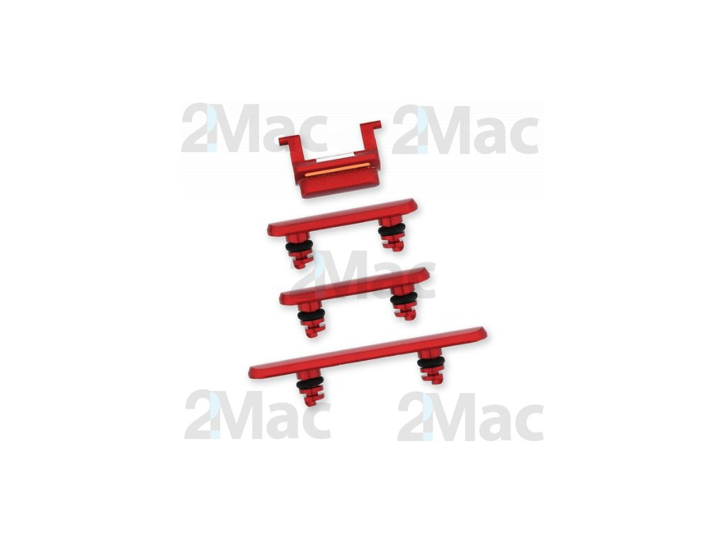 iPhone 11 Side Buttons Set Red