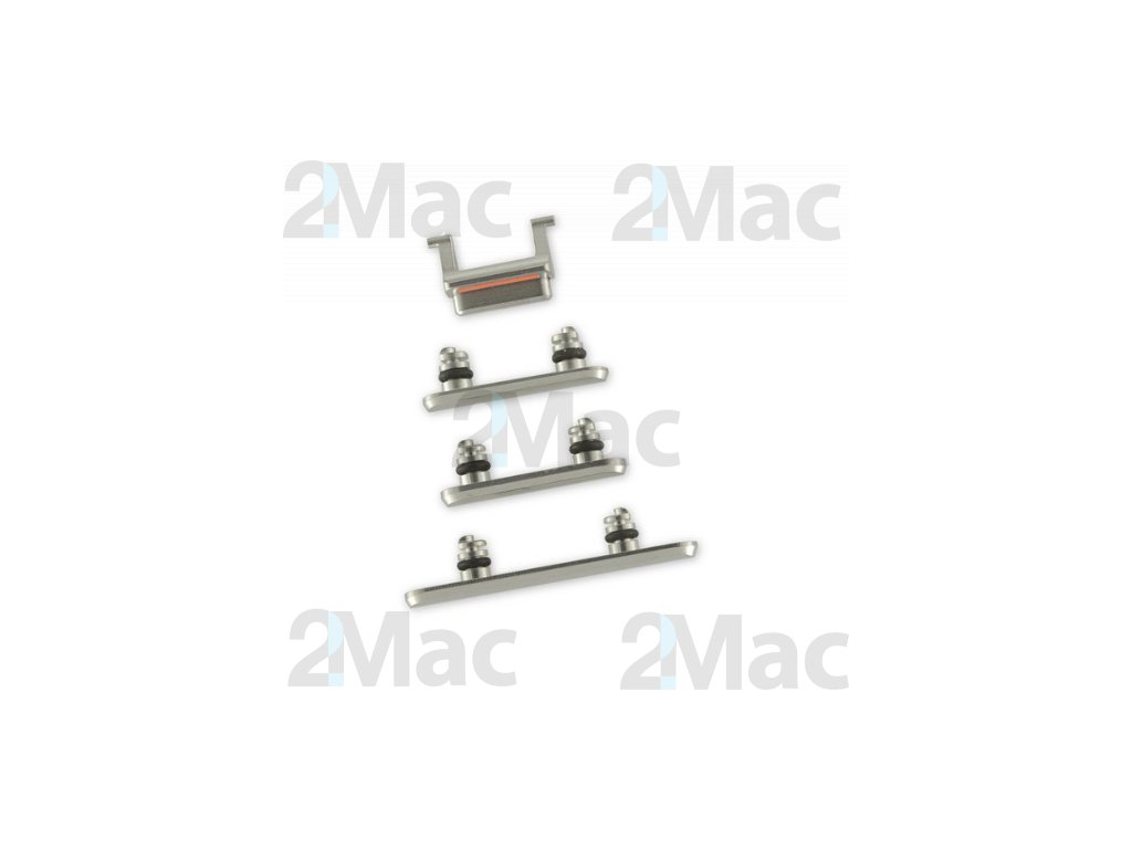 iPhone XS Side Buttons Set Silver