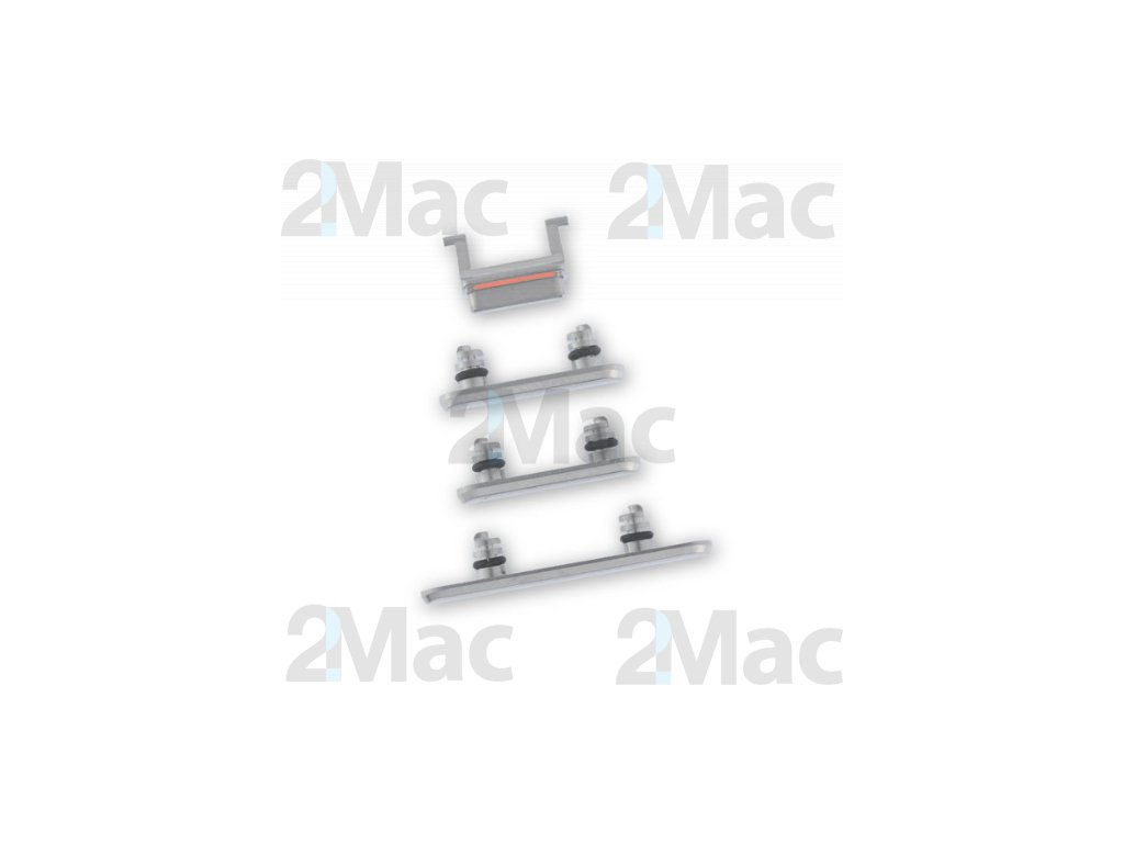 iPhone X Side Buttons Set Silver