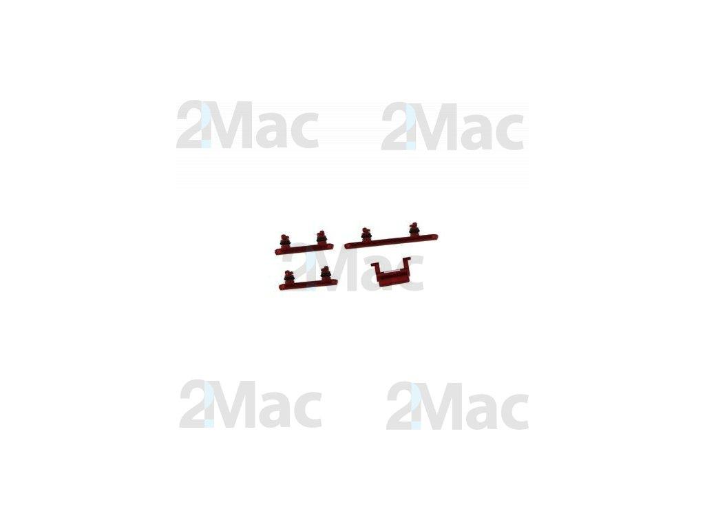 Boční kovová tlačítka pro Apple iPhone XR - Red