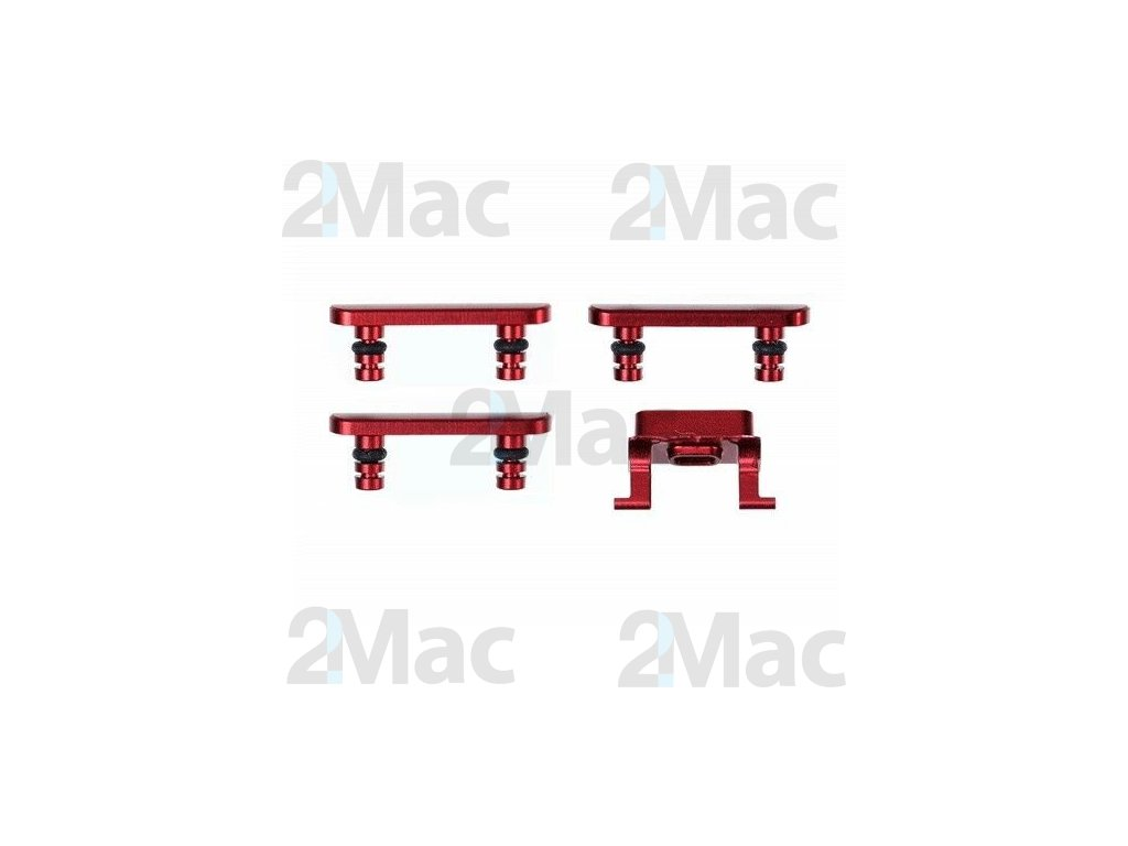 iPhone 8 Side Buttons Set Red