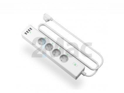 Meross Smart Wi-Fi Power Strip 4AC+4USB MSS425F