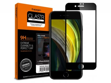 Spigen Glass FC HD, black - iPhone SE/8/7