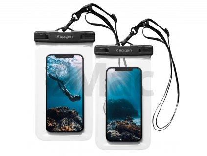 Spigen A601 Waterproof Phone Case 2 Pack, clear