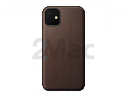 Nomad Rugged Leather case, brown - iPhone 11