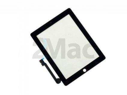 Přední dotykové sklo (touch screen) pro Apple iPad 3/4 Black - High Copy