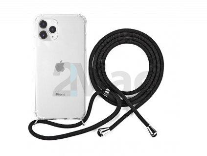 NAKE STRING CASE iPhone 11 Pro Max- bílá transparentní / černá