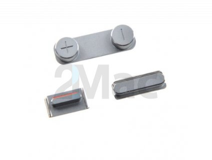 Boční kovová tlačítka pro Apple iPhone 5 - Silver
