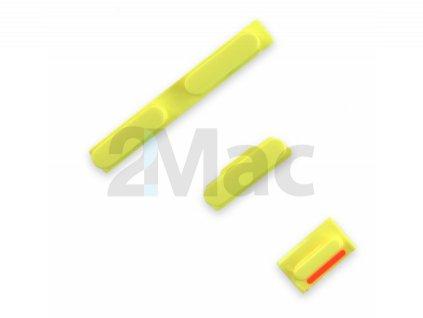 Boční kovová tlačítka pro Apple iPhone 5C Side - Yellow