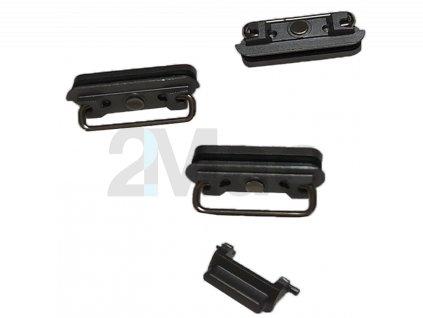 Boční kovová tlačítka pro Apple iPhone 6s - Black