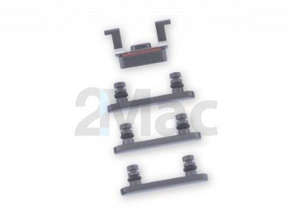 Boční kovová tlačítka pro Apple iPhone 8 - Black
