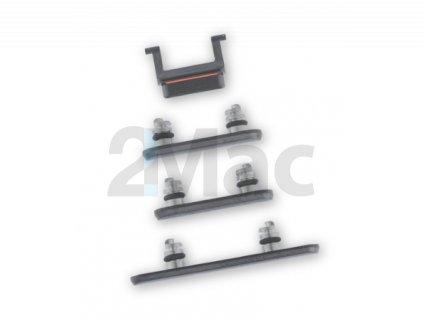 Boční kovová tlačítka pro Apple iPhone X - Black