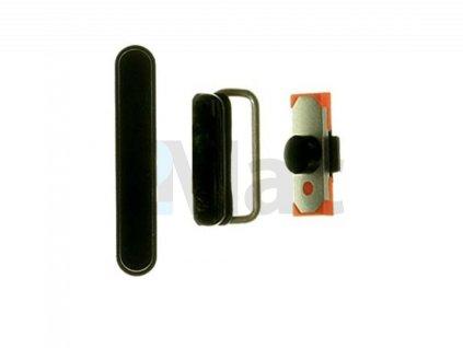 Sada náhradních bočních tlačítek pro Apple iPad 2/3/4 (Ovládání: hlasitost/zapnutí/tichy režim) - Černá (Black)