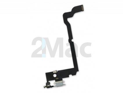 Napájecí datový konektor pro Apple iPhone XS Max - Šedý