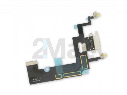 Napájecí datový konektor pro Apple iPhone XR - Bílý