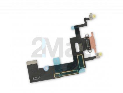 Napájecí datový konektor pro Apple iPhone XR - Korálový
