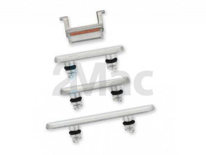 Boční kovová tlačítka pro Apple iPhone 11 Pro/11 Pro Max - Silver