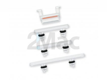 Boční kovová tlačítka pro Apple iPhone 11 - White
