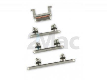 Boční kovová tlačítka pro Apple iPhone XS - Silver