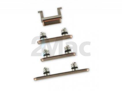 Boční kovová tlačítka pro Apple iPhone XS - Gold