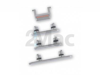 Boční kovová tlačítka pro Apple iPhone X - Silver