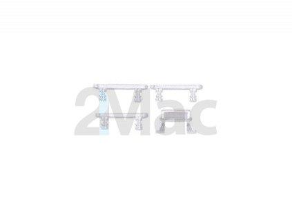Boční kovová tlačítka pro Apple iPhone 8 Plus - Silver