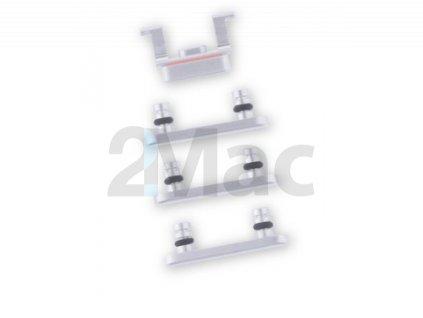 Boční kovová tlačítka pro Apple iPhone 8 - Silver
