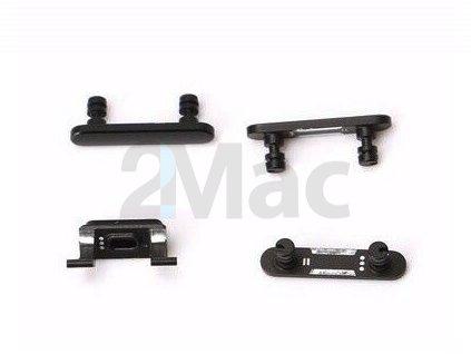 Boční kovová tlačítka pro Apple iPhone 7 Plus - Jet Black