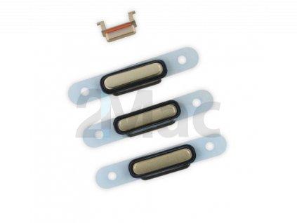 Boční kovová tlačítka pro Apple iPhone 6 - Gold