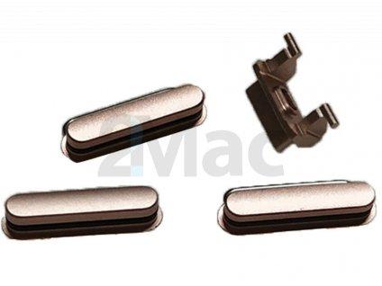 Boční kovová tlačítka pro Apple iPhone 6s Plus - Gold