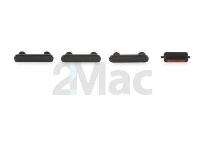 Boční kovová tlačítka pro Apple iPhone 7 - Jet Black