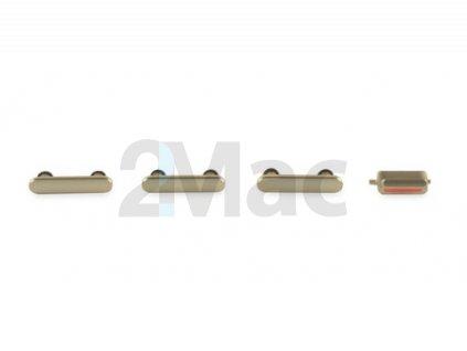 Boční kovová tlačítka pro Apple iPhone 7 - Gold