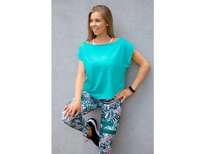 mietowa bluzka taneczna 2skin m3639