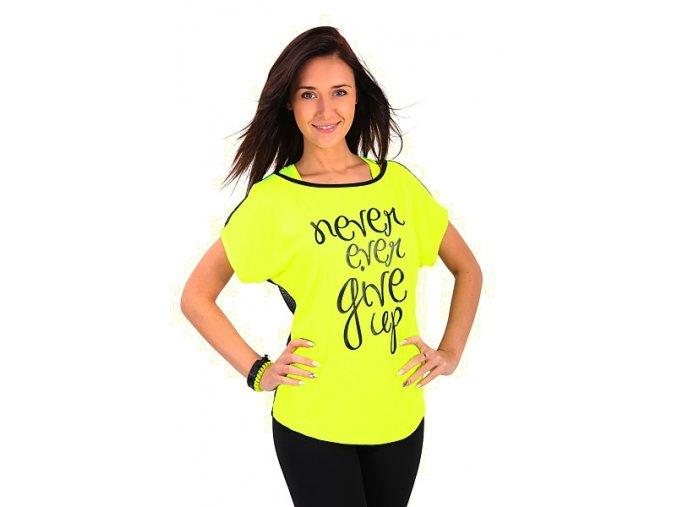 Žlté tričko na cvičenie pre ženy