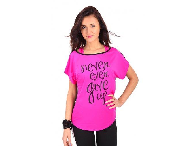 Ružové dievčenské tričko na cvičenie
