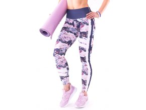 sportowe leginsy na fitness w kwiaty 2skin m2122