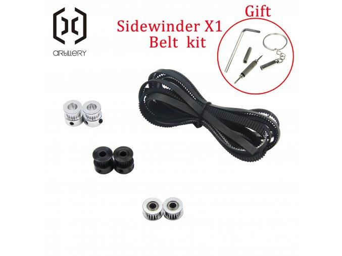 Artillery 3D Printer Sidewinder X1 AND Genius Belt And Belt Wheels