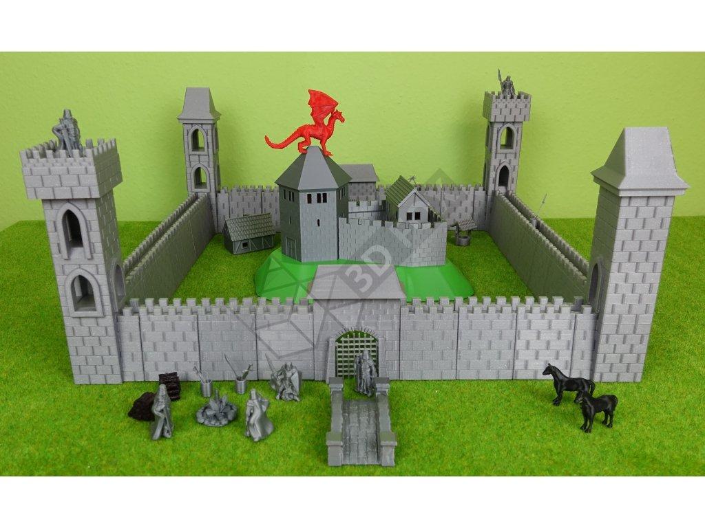 Stavebnice dětský Hrad FOX Castle - rozšířená verze