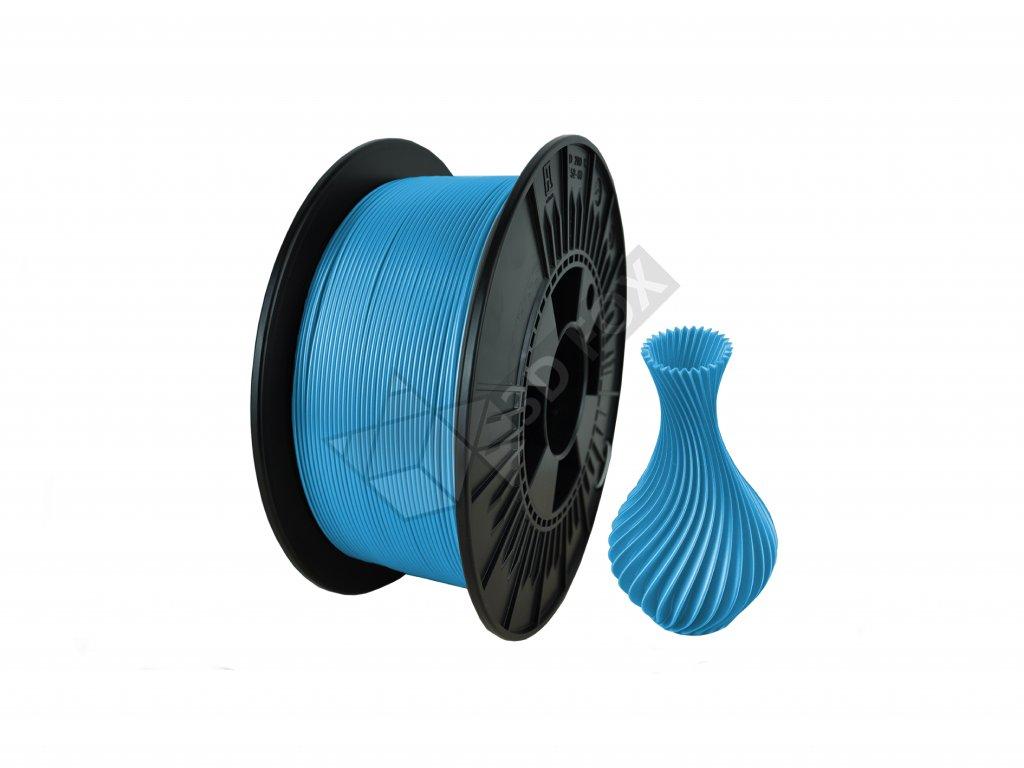 filament + váza light blue