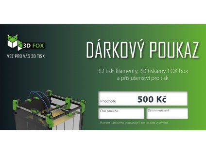 3DFOX dárkový poukaz297x104 500