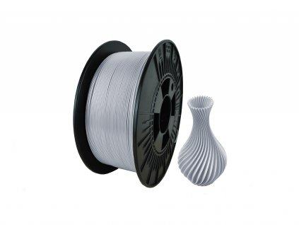 filament + váza silver natural