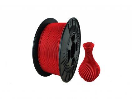 filament + váza PLA termo red