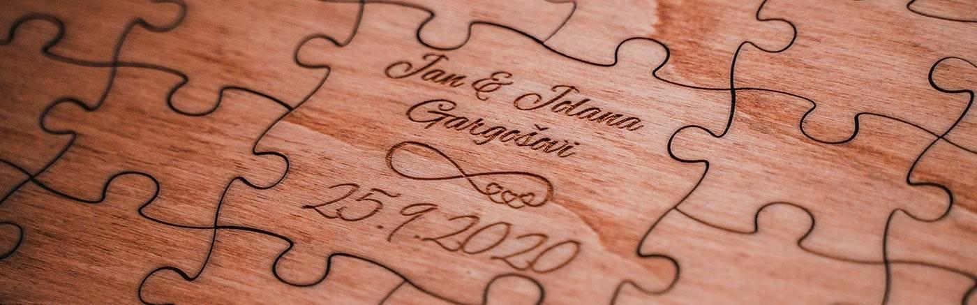 Svatební kniha hostů - Puzzle