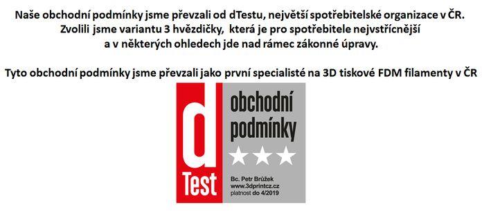 Jsme první v ČR na 3D FDM certifikovaní dTestem