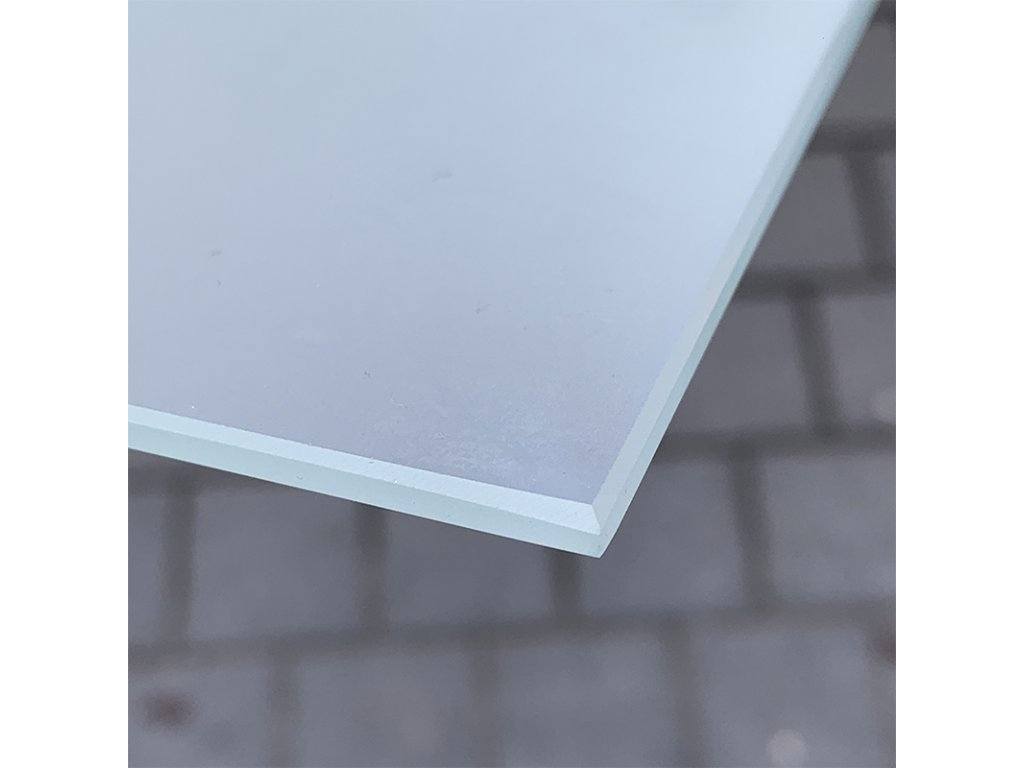 Kalené leptané  sklo 380 x 380 x 4 mm