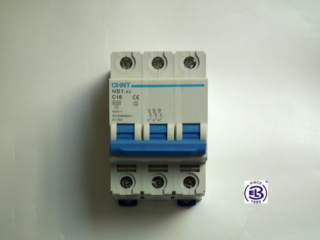 Jistič 1/3/B 6kA NB1-63 CHINT